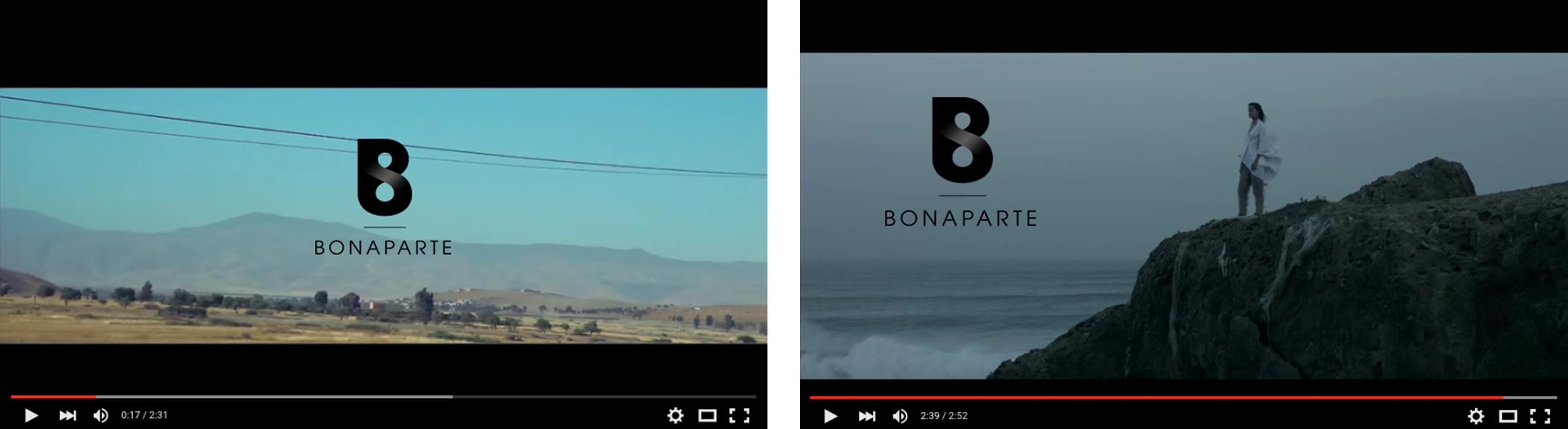 Logo Bonaparte, réalisation vidéo sur extrait video youtube