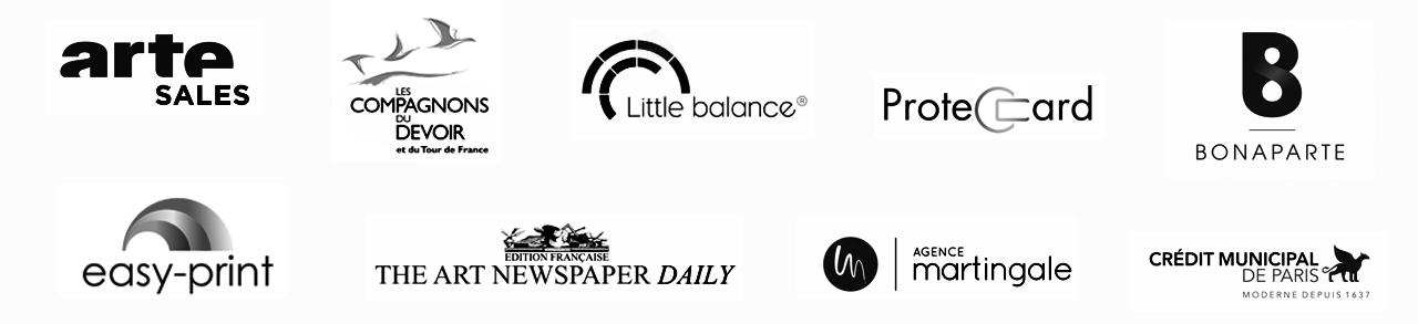 référence GRAPHISME avec logos